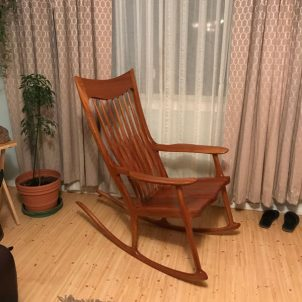 Custom wooden furniture - rocker by Ojai Dory